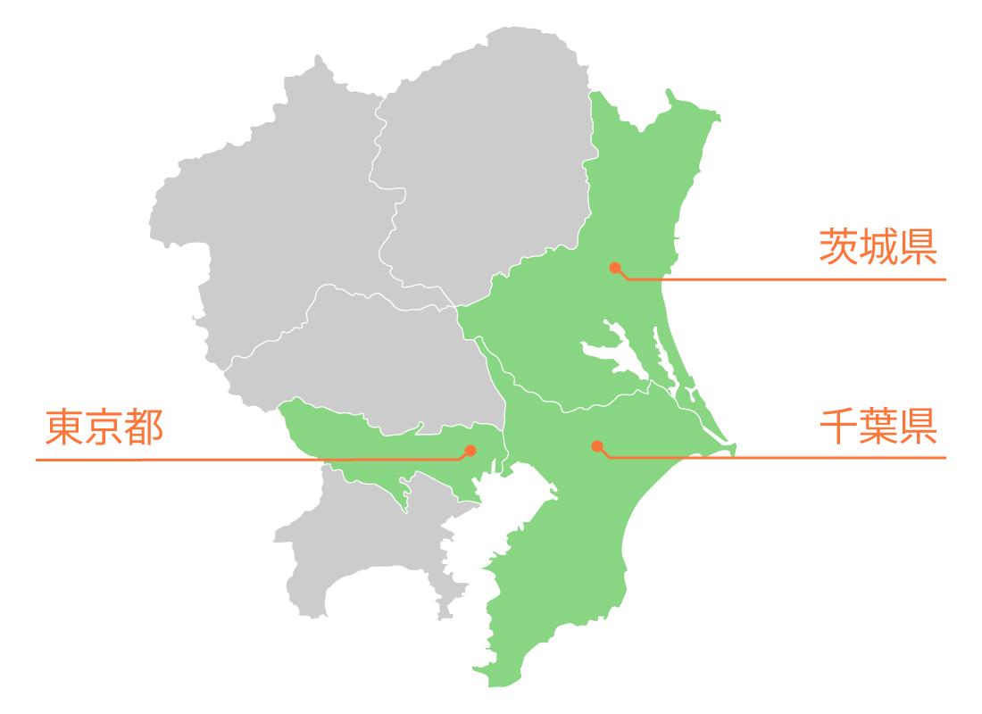 関東全域の地図